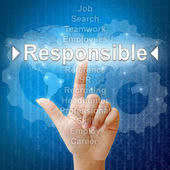 Responsible,Business concept in word for Human resources — Stock Photo
