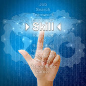 Skill,Business concept in word for Human resources — Stock Photo