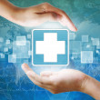 Medical icon,First Aid in hand — Stock Photo #23217170