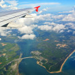 Phuket view from the plane — Stock Photo