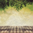 Empty wood and abstract background over beautiful bokeh — 图库照片