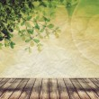 Empty wood and abstract background over beautiful bokeh — Stok fotoğraf