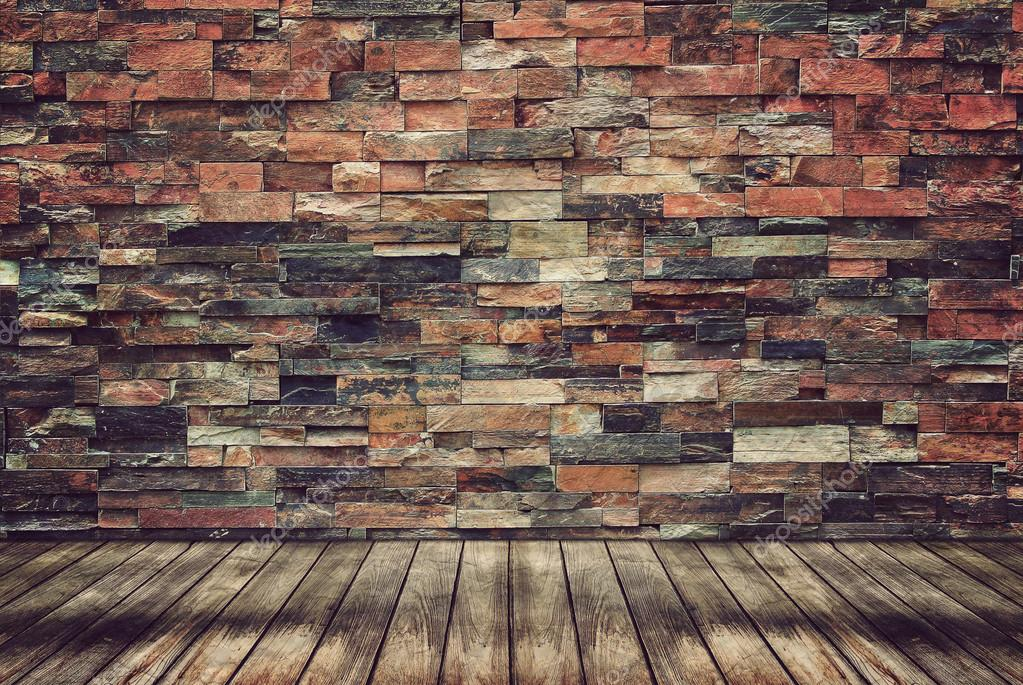 brick wall wood floor images