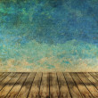 Grass and sky watercolor abstract background on old paper ,Vinta — Stok fotoğraf
