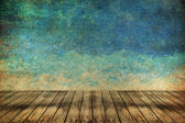 Grass and sky watercolor abstract background on old paper ,Vinta — Stock Photo