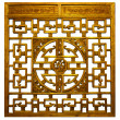 Stock Photo: Chinese gold Traditional wood carvings