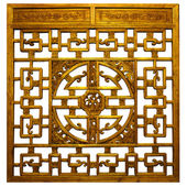 Chinese gold Traditional wood carvings — Stock Photo