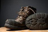 Yıpranmış iş boots — Stok fotoğraf
