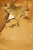 šerif ve městě — Stock fotografie