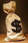 Worek pieniędzy — Zdjęcie stockowe