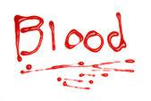 написано в крови — Стоковое фото