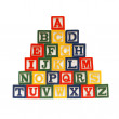 The Alphabet in Blocks — Stock Photo