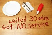 Poor Service — Stock Photo