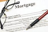 Hypothek Vertrag — Stockfoto