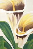 Calla Lilies Painting — Stock Photo