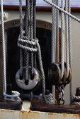 Zeilboot katrollen — Stockfoto
