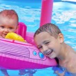 Siblings Enjoying the Pool — Stock Photo