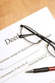 Deed Papers — Stock Photo