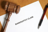 Bankruptcy Claim — Stock Photo
