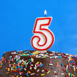 Celebrating Five Years — Stock Photo