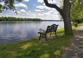 Lakeview Bench Seat — Stock Photo