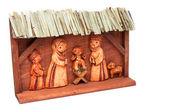 Wooden Nativity Scene — Stock Photo