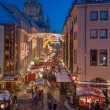 Christmas Market in Dresden - Stock Photo