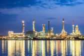 Morning Refinery Twilight — Stock Photo