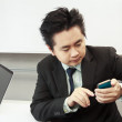 Businessman Holding The Phone — Stock Photo