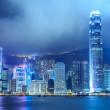 Hong Kong City Night View — Stock Photo