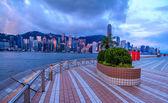 Romantic Morning Hong Kong City View — Stock Photo