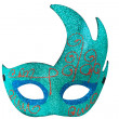 Blue Half Moon Shape Fantasy Mask — Stock Photo
