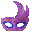 Stock Photo: Purple Half Moon Shape Fantasy Mask