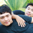 Gay Asian Couple — 图库照片