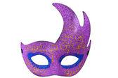 Fioletowy pół księżyca kształt maski fantazja — Zdjęcie stockowe