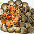 Spicy Cockle Shellfish — Stock Photo