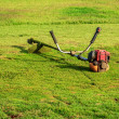 Mower On The Yard — Stock Photo