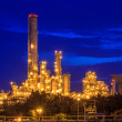 Stock Photo: Refinery Twilight