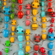 Stock Photo: Multi Color Ants On Wall