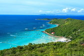 Paradise Island With Blue Sea In High Angle View — Stock Photo