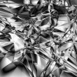 Abstract Of Shiny Silver Crease Foil — Stock Photo