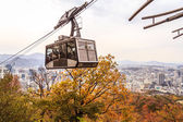 Tourist In Cable Car — Stock Photo