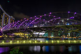The Marina Bay Sands With Helix Bridge — Stock Photo