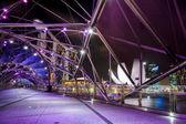 The Marina Bay Sands With Helix Bridge — Stock Photo