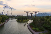 Gardens by the Bay Dusk View — Stock Photo