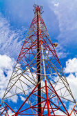 Radio tower and the sky — Stock Photo