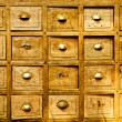 Royalty-Free Stock Photo: Many wood drawer box