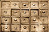 Many wood drawer box — Stock Photo
