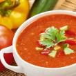 Stock Photo: Gazpacho and ingredients