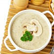 Mushroom cream soup - Stock Photo